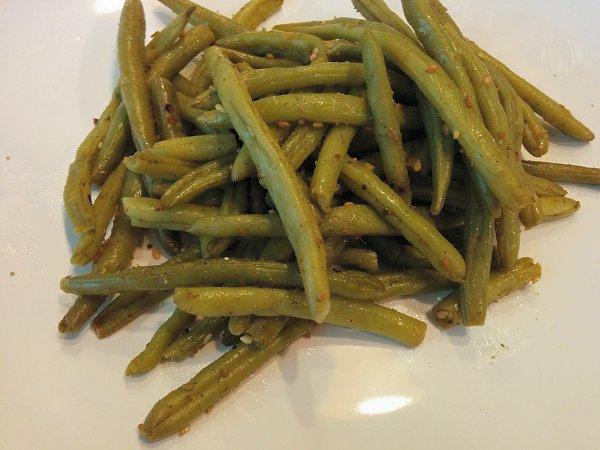 שעועית ירוקה צלויה עם זעתר