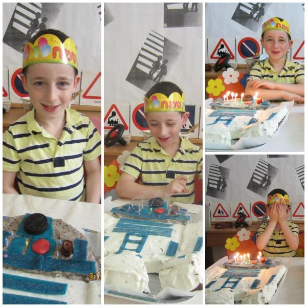 יאיר בחגיגה בגן עם עוגת R2D2