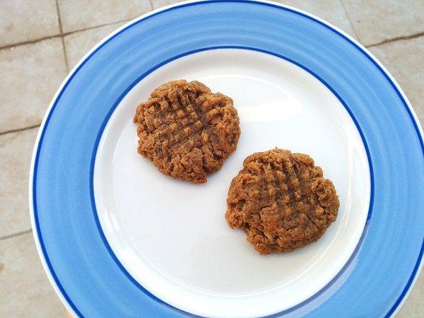 עוגיות בננה, חמאת בוטנים וחמאת שקדים (טבעוני וללא גלוטן)